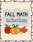 Fall Math Activities for Special Education