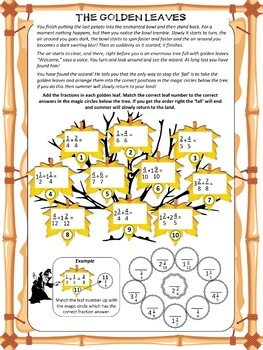Fall Math Activity / Autumn Math Story: The wizard and the tale of Fall!