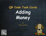 Fall Math: Adding Money QR Code Task Cards