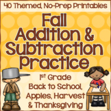 Fall Math: Addition & Subtraction Practice