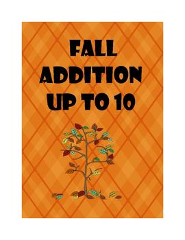 Fall Math Addition up to 10