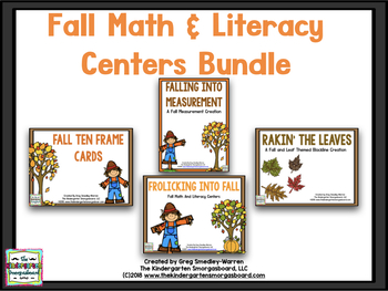 Fall Math And Literacy Creation BUNDLE!