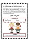 PreK and Kindergarten Math Assessment Pack