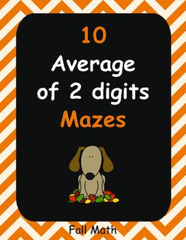 Fall Math: Average of 2 digits Maze