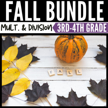 Fall Math Multiplication and Division Bundle