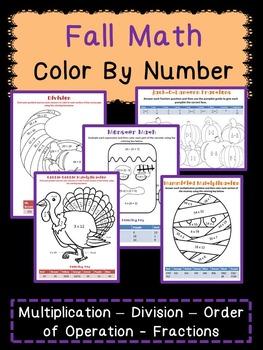 Halloween & Thanksgiving Math Bundle