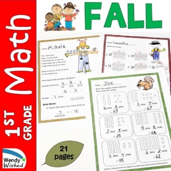 Fall Math CCSS First Grade Just Print It (Common Core) for September