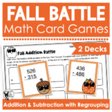 Fall Math Games | Addition and Subtraction with Regrouping