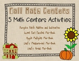Fall Math Center Activities for 3rd Grade with Common Core Standards