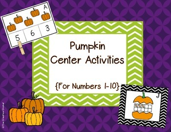 Fall Math Center Activities for Numbers 1-10