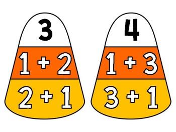 Fall Math Center:  Commutative Property Match It