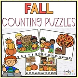 Fall Math Center Counting Puzzles {FREEBIE}