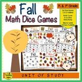 Fall Math Center Dice Games