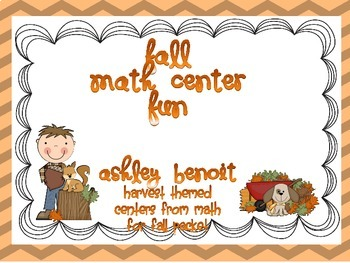 Fall Math Center Mini Packet