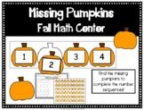 Fall Math Center- Missing Pumpkins