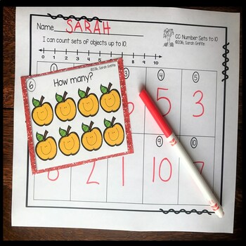 Numbers to 10 ~ Fall Math Center ~ Task Cards