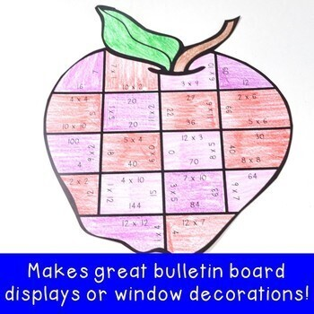 MULTIPLICATION Apple Math Centers | Fall Math Games | Back to School Activities