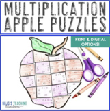 MULTIPLICATION Apple Activities | Fall Math Games to use with Johnny Appleseed