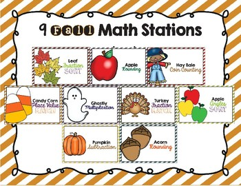 Fall Math Centers 3-5