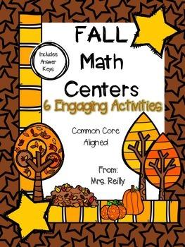 Fall Math Centers - Common Core Aligned