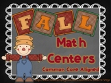 Fall Math Centers: Common Core! Third Grade!