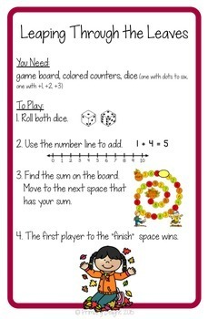Counting On: Fall Math Centers (Using a Mental Math Strategy)