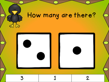 Fall Dice Subitizing Clip Cards 1-10: Differentiated Math Centers