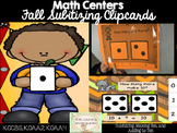 Fall Math Centers: Dice Subitizing Clip Cards 1-10