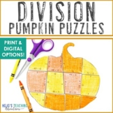 Fall Math | September Math Centers | Division Pumpkin Puzzles