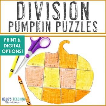 Fall Math Centers: Division Pumpkin Puzzles