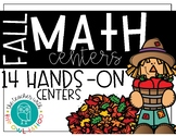 Fall Math Centers (First Grade)