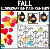 Fall Kindergarten Math Centers
