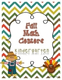 Fall Math Centers - Kindergarten