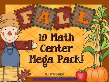 Fall Math Centers Mega Pack!
