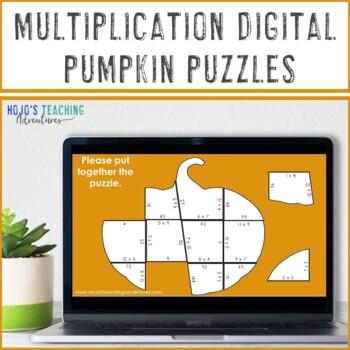 MULTIPLICATION Pumpkin: FUN Thanksgiving Math Centers, Games, or Activities