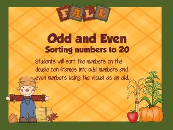 Fall Math Centers Odd/Even Freebie