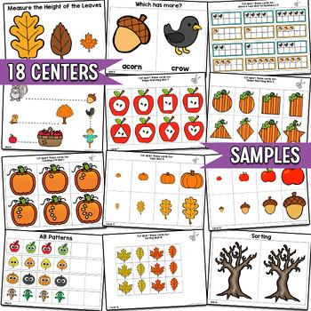 Fall Math Centers, Preschool PreK | Easy Prep, Simple Centers