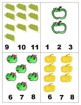 Fall Math Centers: Pumpkins and Cats  Number Recognition 1-10