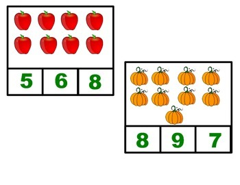 Fall Math Centers, Worksheets, and Apple Counting Book