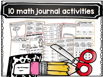 November Math Centers and Printables