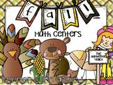 Fall Math Centers First Grade {CCSS}