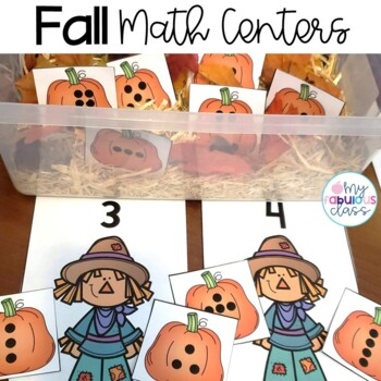 Fall Math Centers for Kindergarten