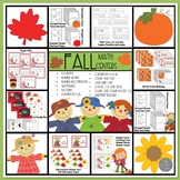 Fall Math Centers for Kindergarten and Preps