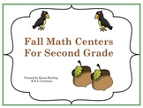 Fall Math Centers/Task Cards for Second Grade