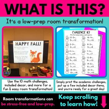 Fall Math Classroom Transformation | 1st Grade Math Review