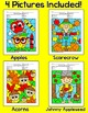 Fall Math Color by Code Bundle: Johnny Appleseed, Scarecro