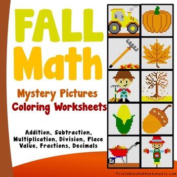 Fall Math Activities, Fall Math Worksheets Bundle (Autumn Math)