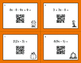 Fall Math: Combining Like Terms QR Code Task Cards