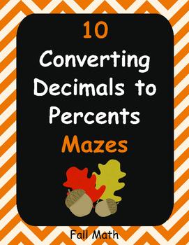 Fall Math: Converting Decimals to Percents