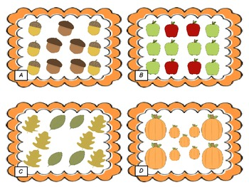 Fall Math Count and Write Center Activity
